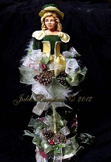 Custom Decorative Character Doll copyright Julie Bergeron 2012