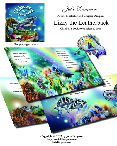 Lizzy the Leatherback illustration pages copyright julie bergeron 2012