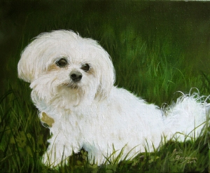 Oil painting, 8x10 Copyright Julie Bergeron Artist
